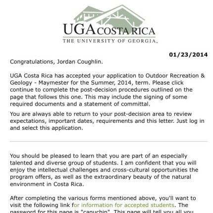 jdnmichelle GOT ACCEPTED TO THE#UGACOSTARICA STUDY ABROAD PROGRAM!!!! I cannot voice the amount of excitement exploding in my entire body.