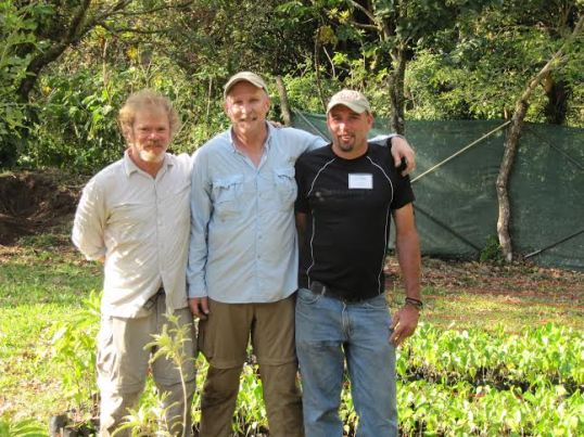 Dr. Kris Irwin (center) with Dr. Jay Shelton (left) and Lucas Ramirez (right).
