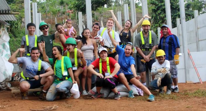 The team is all smiles after completing four day of intense physical labor in Puntarenas, Costa Rica.